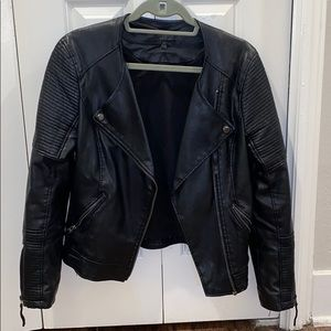 Super cute and warm Topshop faux leather jacket!